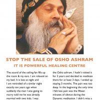Stop the sale of osho ashram
