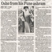 Police seek 'original will' of Osho from his Pune ashram