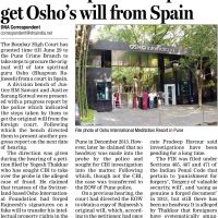 HC seeks report on steps to get Osho's will from Spain