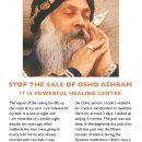 Stop the sale of osho ashram